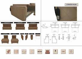 Comodo-Alba elemes ülőgarnitúra elemek